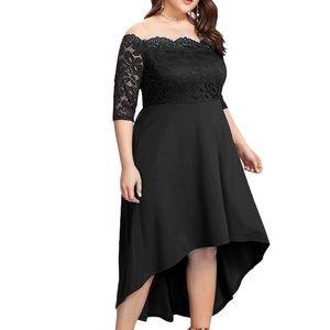 Dresses & Skirts - Plus Size❣️👑 Hi-lo Spades Queen Dress, 14w-22w